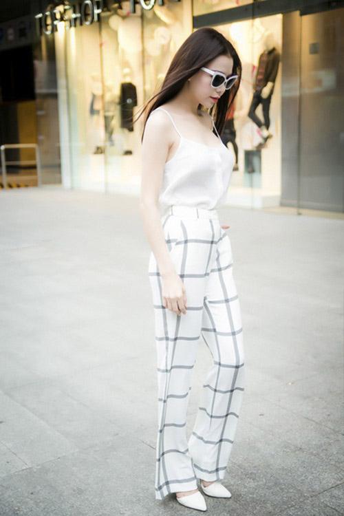 5 kiểu quần vải ống suông duyên dáng mới mẻ cho nàng