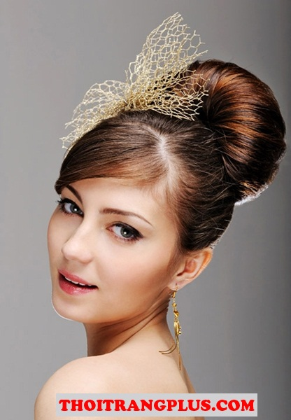 Làm cô dâu lộng lẫy với những kiểu tóc cuốn hút