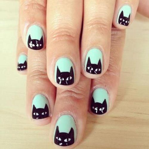 Mẫu nail hình mèo ngộ nghĩnh cho nàng yêu động vật
