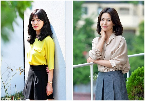 Song hye kyo gợi ý cách biến tấu sơ mi
