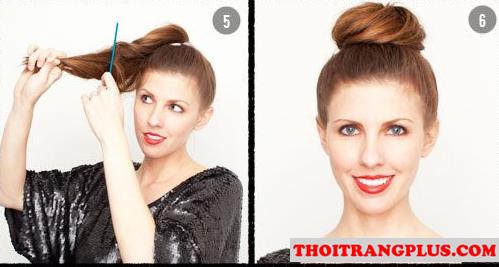 Tóc búi đáng yêu phù hợp với từng kiểu khuôn mặt
