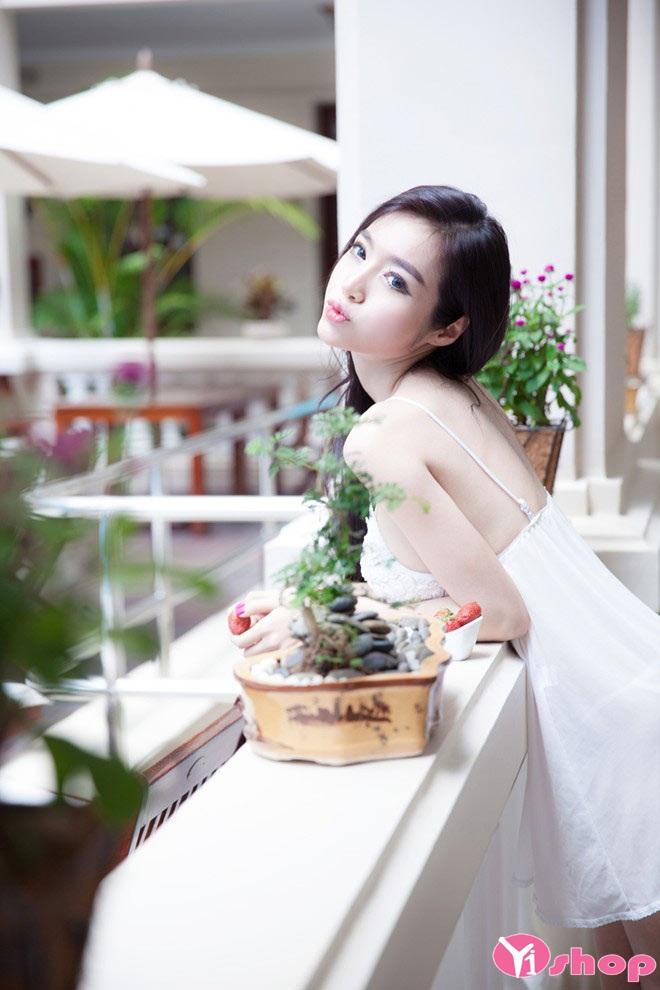 Váy đầm ngủ trắng quyến rũ sexy cho nàng