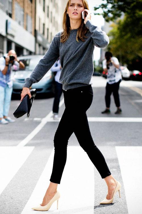 Bí quyết chọn giày thu đông cho những mẫu jeans mốt nhất