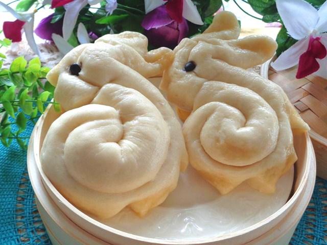 Làm bánh bao hình thỏ cho bữa sáng thơm ngon
