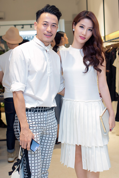 Lan khuê diễm my 9x nổi bật với trang phục tone trắng