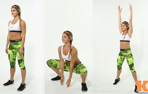 Những tư thế squat giúp vòng ba nở nang sau một tháng