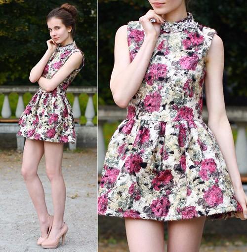 Váy hoa hàn quốc duyên dáng cuốn hút nàng công sở