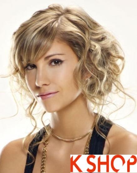 6 kiểu tóc ngắn uốn xoăn ngang nữ tính quyến rũ