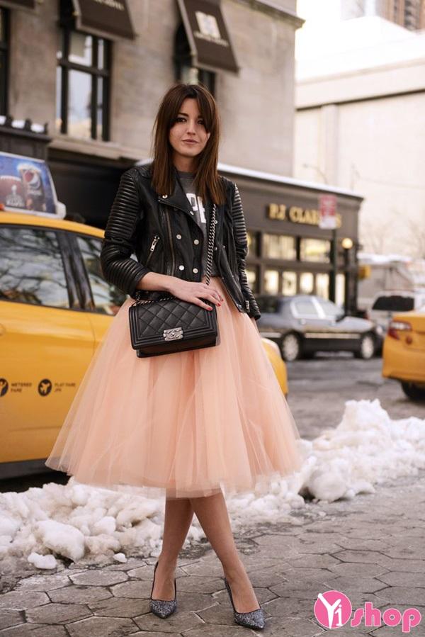 Chân váy đầm voan dành cho nàng mi nhon
