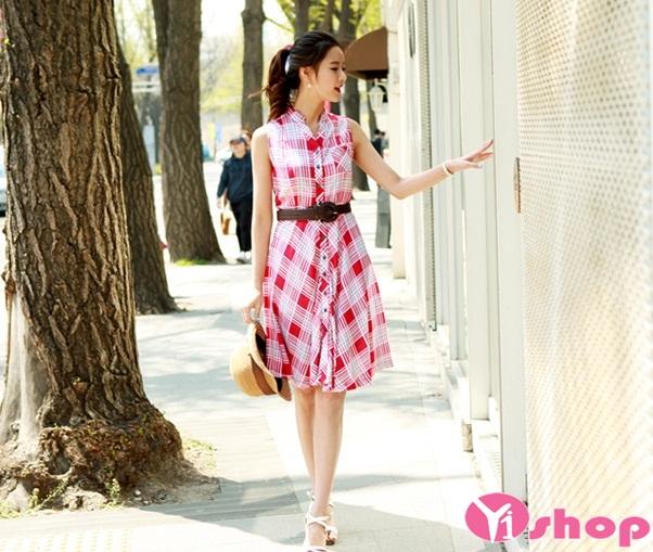 Váy đầm dáng xòe sọc kẻ caro sự lựa chọn hoàn hảo cho bạn gái
