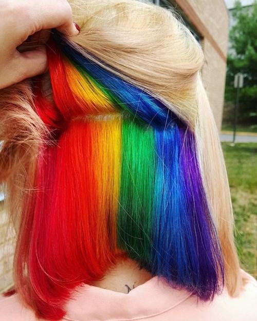 Bạn có đủ dũng cảm để thử kiểu tóc 7 sắc cầu vồng này không