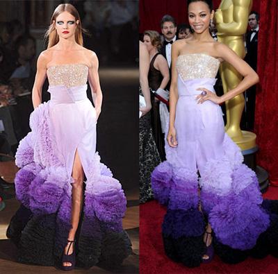 Phong cách thời trang đối lập của zoe saldana