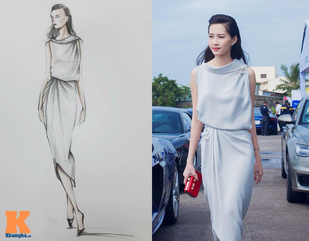 Bản phác thảo những mẫu váy đẹp ngẩn ngơ của hh thu thảo