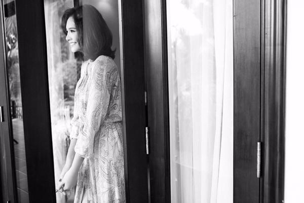 Hoa hậu hương giang mặc táo bạo nhưng không phản cảm