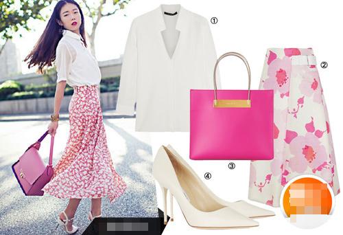 Thời trang nữ công sở tháng 5 tôn eo thon nhờ váy xếp pli