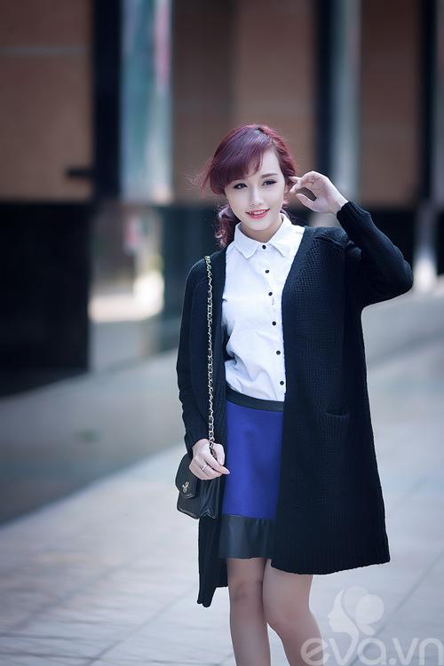 Áo ấm đẹp không cần dày cộm cùng cardigan dài