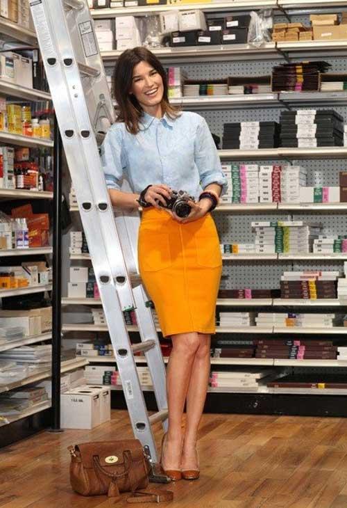 Eva talk đổi vị thu với chân váy bút chì