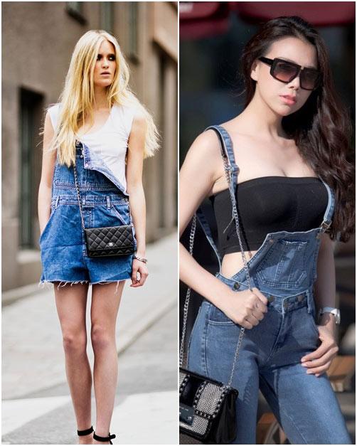 Ngắm sao việt diện quần yếm đụng hàng các fashionista