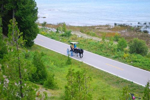 Hình ảnh lạ đường cao tốc chỉ dành cho xe đạp xe ngựa ở mỹ
