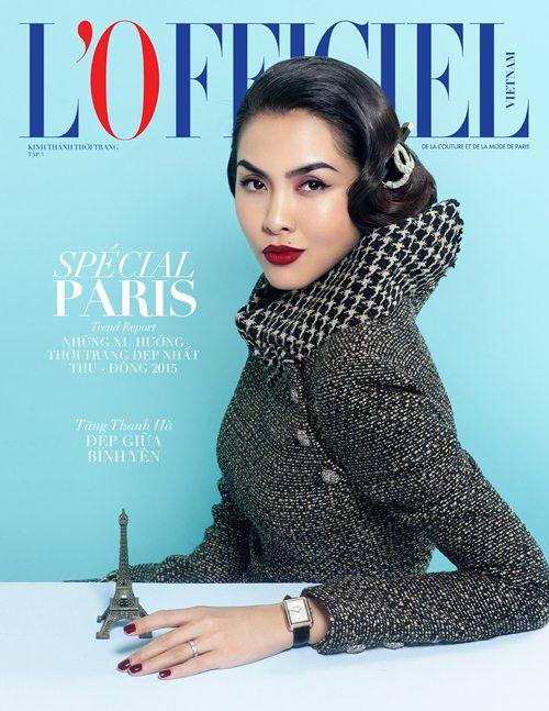 ngọc nữ tăng thanh hà tái xuất ấn tượng trên bìa tạp chí thời trang