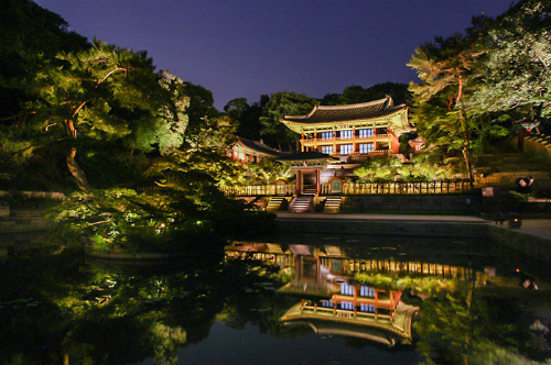Buổi đêm ở cung điện cổ của hàn quốc