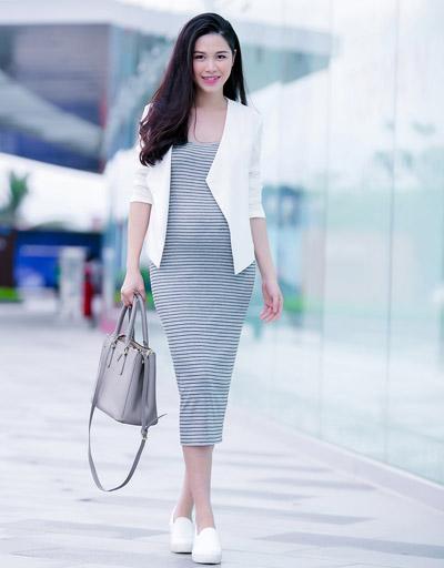 Vợ đăng khôi gợi ý trang phục dành cho bà bầu