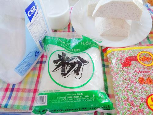 Cách nấu chè khoai môn bột báng tuyệt ngon