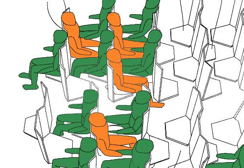 Thiết kế ghế ngồi đối diện trong máy bay gây tranh cãi