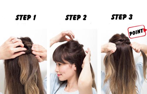 Hướng dẫn tạo tóc xinh trong vòng 3 nốt nhạc cho chị em dạo phố