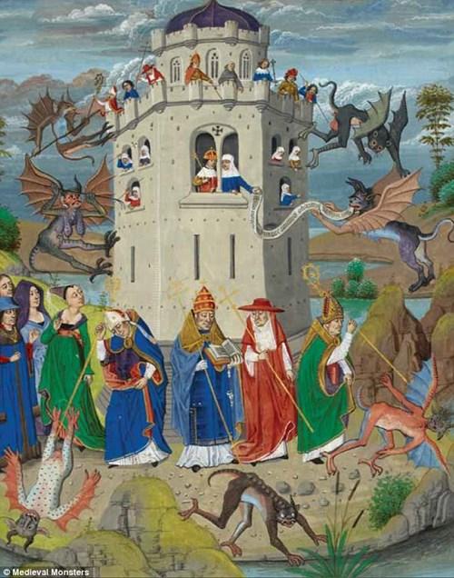 Tiết lộ những hình ảnh thú vị về quái vật thời trung cổ