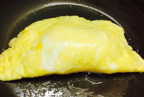 Trứng chiên phô mai hình nấm cho bé