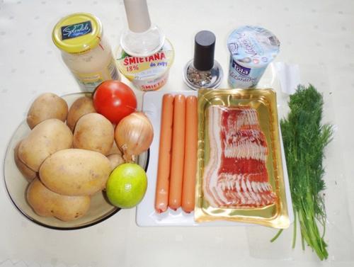 Salad khoai tây đậm đà vị salad thanh chua dịu ngọt với sốt mayonnaise