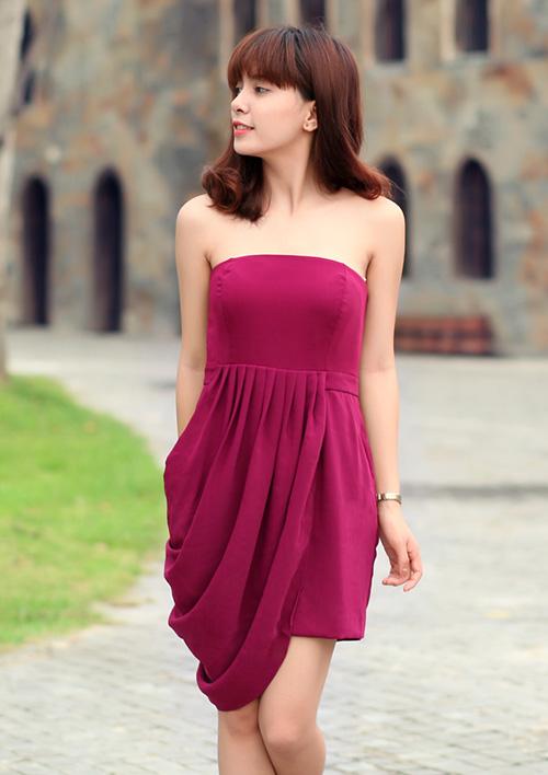 Từ ngực nhỏ đến eo to đều mặc váy thật đẹp